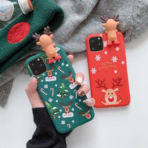 Per iPhone 11 Max Pro Xs Max Xr X 8 più 2019 regalo di Natale 3D Elk Orso Custodie Cellulari