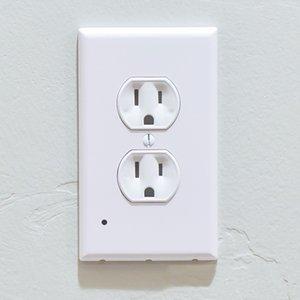 Outlet-Abdeckung Lichtsensor Engel Outlet-Wand-Platte mit LED-Nachtlichter Schlafzimmer Badezimmer Nachttischlampe LED-Leuchten leichter