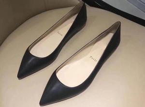 5A Kadınlar 3109230 Ballalla Düz koyun deri Bale Daireler Ayakkabı, Gerçek Deri Üst, Boyutu 35-40, DHL Ücretsiz Kargo