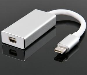 Type C Mini Display Port Adapter USBC Mini DP 4K UHD USB 3.1 10Gbps USB C Mini DisplayPort Converter Aluminium Câble