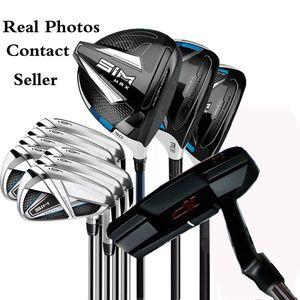 Livre Golf Putter + Conjunto Completo SIM MAX Golf Clubs Motorista # 3 # 5 madeiras + Irons real Pictures Contactar vendedor