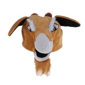 Novelty Adult Kid Cartoon Goat Animal Plush Fancy Dress Party Hat Props
