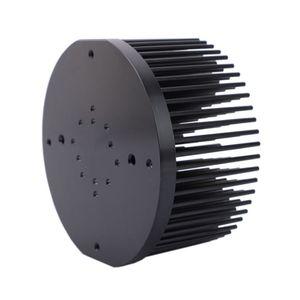 Yuvarlak D133mm Önceden delinmiş pin fin soğutucu cree cxb3590 Vatandaş CLU-048 Bridgelux V29 için fit