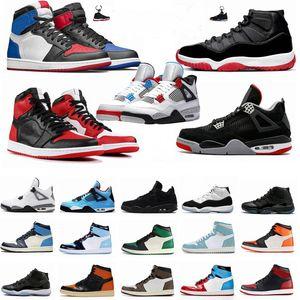 Mens 1 1s Travis Scotts Fearless Bred 11 11s Concord 45 Space Jam Männer Basketball-Schuhe White Cement 4 4s Was Der Designer Schuh Frauen Sport