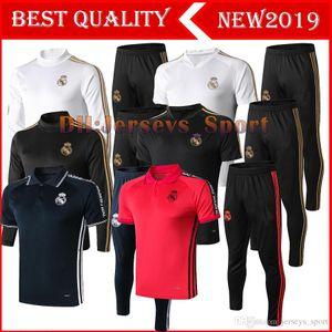 2019 Real Madrid Trainingsanzug Männer Fußball chandal Fußballtrainingsanzug 19 20 erwachsenen Trainingsanzug dünne Hosen Sportswear