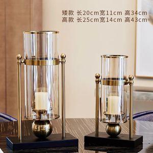 Transparente suporte de vidro Castiçal de Metal Vase Nordic Candle Holders Modelo Quarto Suporte da vela Arranjo Mumluk Fábrica FC332