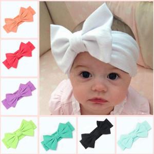 Los niños que hacen punto grande de la pajarita Pañuelos niña de algodón de vendas del bebé del pelo de los accesorios Conejito precioso H10 Oído