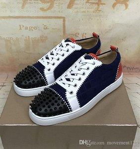 Special Offer 2018 scarpe da tennis per Spikes donne di cuoio di camoscio con borchie Confortevole Uomini Lace-Up Walking Casual Shoes Size 35-46