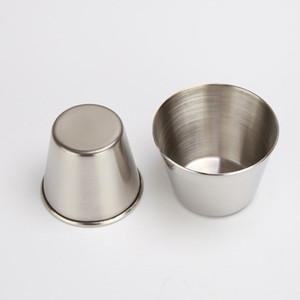 45ml Drinking Glass Stainless Steel Shot Glasses Cups Wine Beer Whiskey Mugs Outdoor Travel Cup
