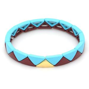 Shinus 2020 Bracelets Women Enamel Tile Bracelet Homme Stacking Fashion Jewelry Charm Pulseira Mujer Moda 2020 Handmade bileklik
