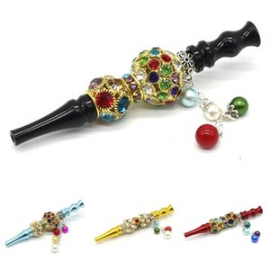 2020 Luxury Hookah Tips Alloy Smoking Gadgets Cigarette Holder Inlaid Rhinestone Handmade Pipes Gifts Durable In Stock 15kl D2