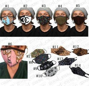 Adultes Lavable Masques de protection Visage Haze visage couverture conception d'impression UV-preuve Facemask Cyclisme Sport Anti-poussière Masques DHL D41007