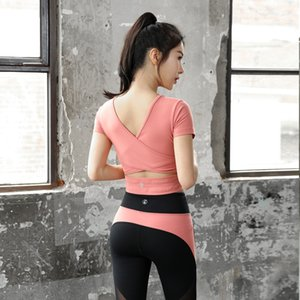 2020 new summer yoga clothing female sprint fitness sports suit two-piece suit 3 colors