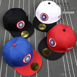 Новые детские Мстители Hat Капитан Америка Капитанская Pentagram Shield Hat Hip Hop Hat Открытый шлемов Sun