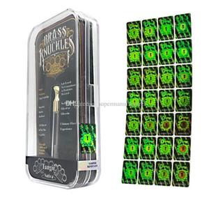 Pegatinas de holograma Marca antifalsificación para nudillos de latón Cartuchos de Vape Etiqueta verde holográfica con diferentes números En stock