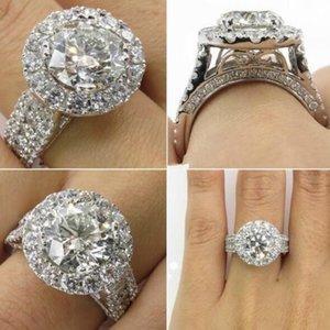 Оптово-новое прибытие микро инкрустированные бриллиантовое кольцо пара обручальные кольца модные кольца для подарка и партии Бесплатная доставка