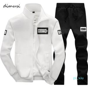 Dimusi 2018 Erkekler Sportwear Eşofman Erkek Dış Giyim Tişörtü Patchwork Erkekler Kapüşonlular Standı Yaka Erkek Eşofman 4XL, Ta013 jz01 ayarlar