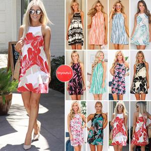 Mujeres Boho del verano vestido corto vestidos de fiesta de noche sueltos más el tamaño de la playa vestido de verano sólido suelto vestido de gran swing fiesta en la playa mini vestidos