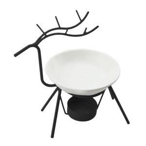 Iron Aromatherapy Furnace Deer Shape Oil Burner Candle Holders Creative Modern Minimalist Oil Stove Lamp Decorations Living Room