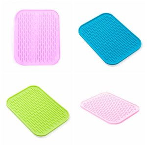 Silicone Placemats Mat Mesa Forno Isolamento Térmico Bakeware Baking Forro Tigela Pad Antiderrapante Impermeável Coaster Prato Mats DBC DH1050