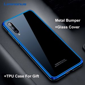 9 h tampa traseira de vidro temperado para xiaomi mi 9 mi9 se case para xiaomi mi 8 mi8 se case rígido pc metal bumper à prova de choque phone case