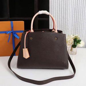 28 33 centimetri Classic borse del fiore di stampa borse borsa Montaigne tote in pelle donne sole spalla borse Crossbody grandi shopper