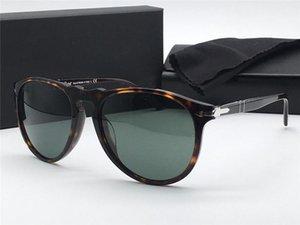 Styliste lunettes de soleil 9649 lentille en verre cadre aviateur rétro classique UV400 lunettes de protection avec étui en cuir de qualité supérieure rétro vintage
