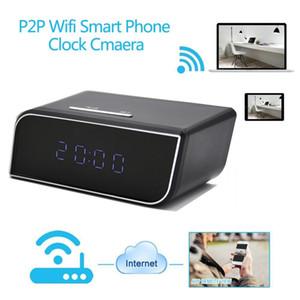 Horloge WIFI Caméras IP P2P HD 1080P H.264 Réveil MINI DV DVR avec vision nocturne IR Mini horloge moniteur pour bébé