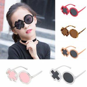 XO غير النظامية Steampunk الاطفال النظارات الشمسية بنين الشعبية القوطية جولة ظلال لطيف فتاة نظارات السفر في الهواء الطلق نظارات LT-TTA1010