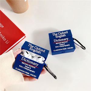 Для AirPods Pro Case 3D Oxford Dictionary Защитный силиконовый чехол для Apple AirPods 2 наушника зарядки крышки коробки