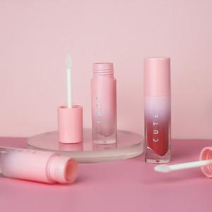 4 ml Gradiente rosado vacío tubo de brillo de labios Labios Bálsamo de contenedores vacíos de botellas Mini recargable Lipgloss Botellas de herramientas de belleza