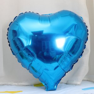 Inch 18 Blue Anniversary Color Wedding Party Balloon Valentines Baby 50pcs Day Bachelorette Foil Birthday Heart Shower Party Favors Bal Wdva