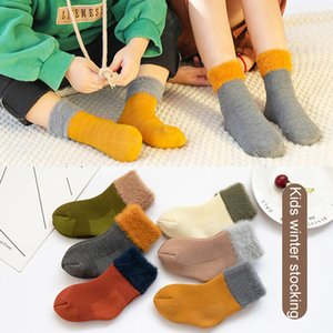 Bebê do inverno dos miúdos Socks 6 Projeto Thicken manter o tubo Oriente Quente Sock Boy Meninas sockings macia Sock Crianças Socks 0-5T 07