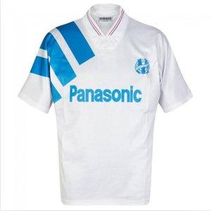 Retro Olympique de Marseille 1992-1993 Fußball-Trikots Futbol Maillot Vintage-Kit Fußball Camiseta Klassiker Hemd