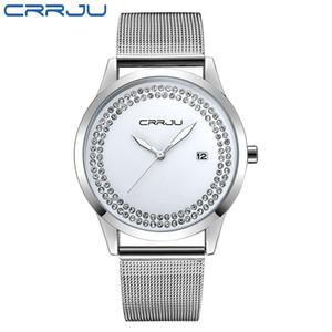 2020 CRRJU Super Slim Gold сетка из нержавеющей стали Часы Женщины Top Brand Luxury Casual часы женщина наручные часы Lady Relogio Feminino