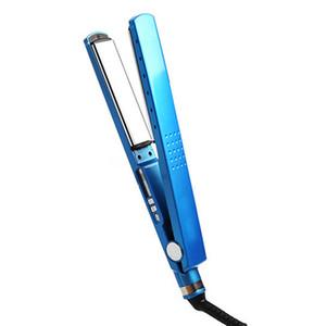 1/4 فرد الشعر الجديد الحديد المسطح استقامة الحديد سبائك التيتانيوم شاشة LED التصميم أدوات 5 درجة الحرارة قابل للتعديل