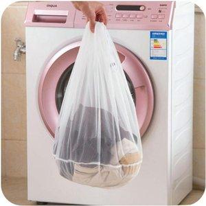 Lavado de nylon Bolsa de lavandería 3 Superficie con cordón sujetador de la ropa cestas de malla Bolsa de lavandería del hogar cuidado de la colada OOA7572-1