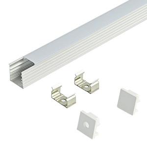 2m pc led aluminum profile for 5050 5630 strip, milky transparent cover 12mm pcb for LED Bar Light and LED strips