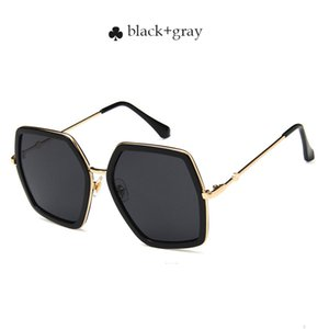 도매 2,018 스퀘어 럭셔리 태양 안경 브랜드 디자이너 여성 OversizePink 선글라스 여성 2 큰 거울 안경 여성 UV400