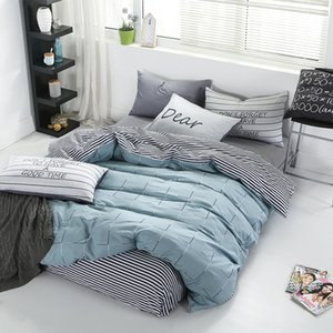 Luxury Cotton Satin Bedding Set Single Double Queen Size Bed Set Quilt Duvet Cover Linens And Pillowcase Home Bedding Set 3-4PCS T200706