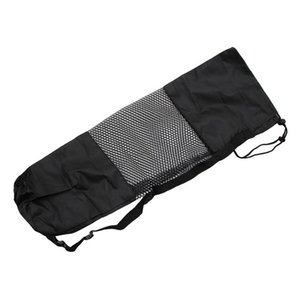 OOTDTY Adjustable Strap Nylon Mat Bag Carrier Mesh For Yoga Gym Fitness Exercise Sports