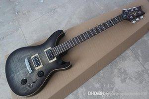 Qualität Big Großhandel handgemachte Vögel Inlay Fingerfestkörper PRS 408 Anthrazit E-Gitarre