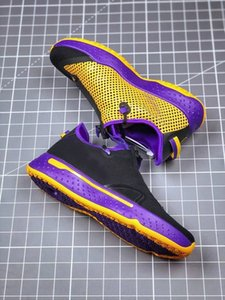 2020 고품질 새로운 PG 사 게토레이 NASA 폴 조지 농구 스포츠 신발 정 IV 줌 GX 블랙 화이트 남성 디자이너 스니커즈 7-12