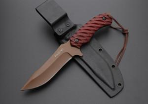 Kırmızı Hunter 5inch G10 düz Bıçak ADRU A523 insan için bıçak kamp Taktik bıçak Bıçaklar şimdi hediye bıçak sabit