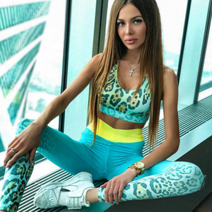 Top da donna sexy 2 pezzi gilet casual + leggings Set di abbigliamento sportivo femminile Yogawear Set di reggiseni sportivi + reggiseni sportivi