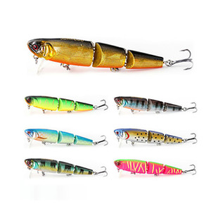 Snodato Fishing Lure 9.8CM 11.5g Floating Minnow plastica artificiale Wobblers pesca Strumenti 3 Sezioni Lure