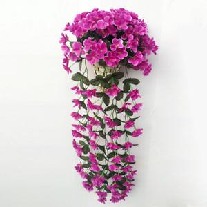 Artificial decoração com flores varanda violeta planta festão Decoração Móveis modernos acessórios de moda