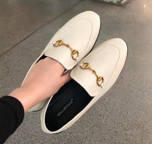 Горячая распродажа-2019 новые летние женские тапочки баотоу Horsebit плоские сандалии мода на каблуках 329