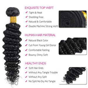 1pcs brésilien cheveux Weave Bundles Bundles profonde vague 100% cheveux humains Weave Remy Hair Extensions Pour Human Black Women