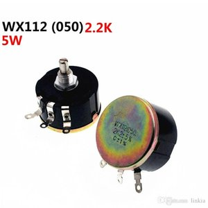 WX112 WX050 Single Turn Wirewound potenciômetro 2.2K 2K2 5W